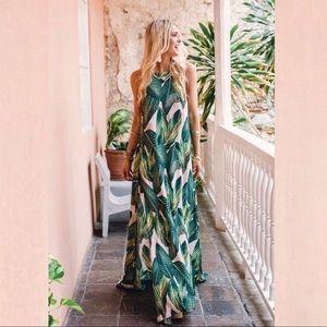 Show Me Your Mumu Peachy Palm Bronte Maxi Dress
